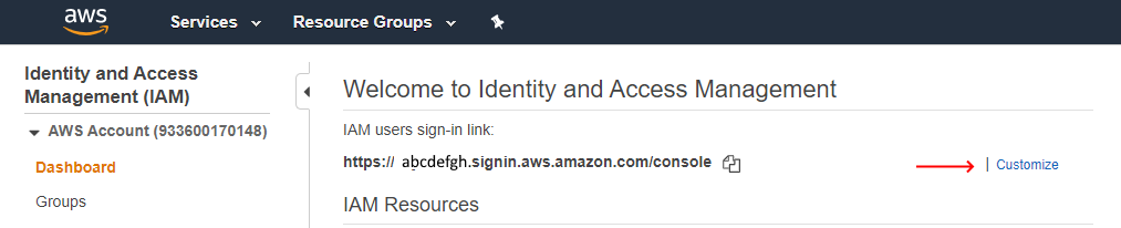 AWS-IAM-Customize-Sign-In-Link