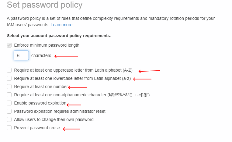 AWS-IAM-Set-Password-Policy-Display